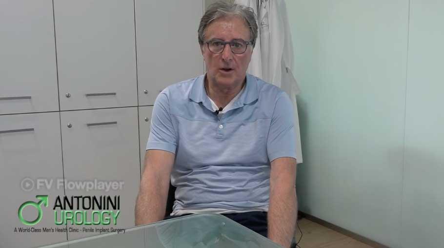 Testimonianza di Antonio, dopo un intervento Protesi Peniena
